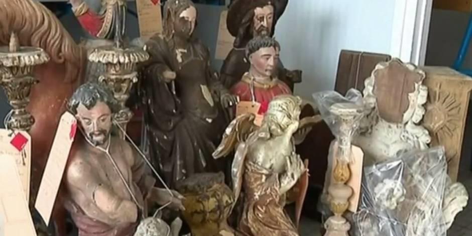 Meer dan 50 kunstwerken gevonden in Frankrijk